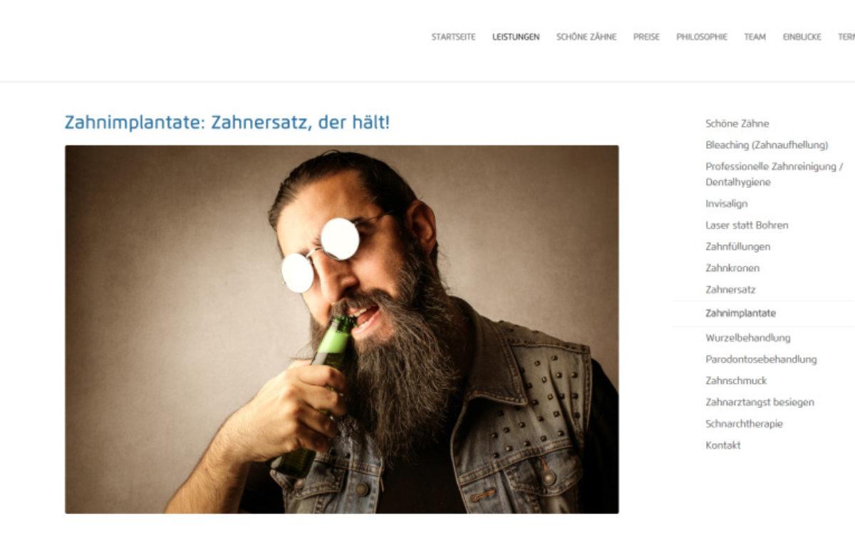 Dentanova Webseite