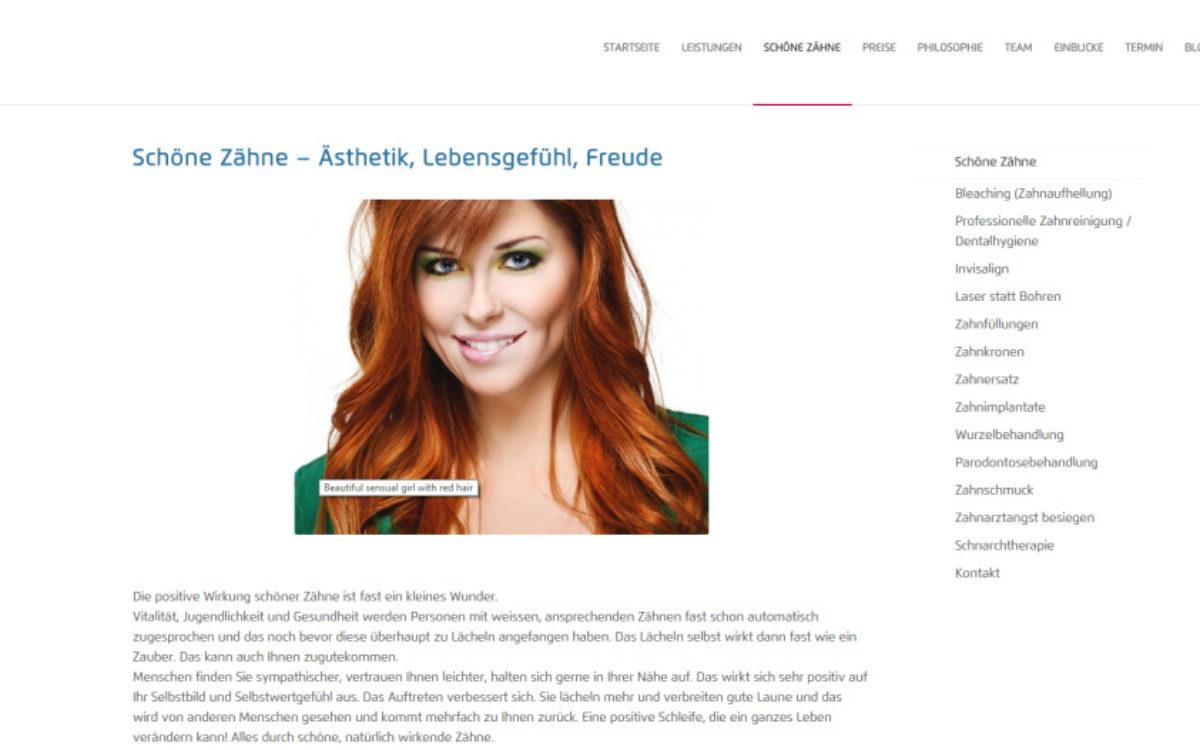 Dentanova Webseite Bild 2