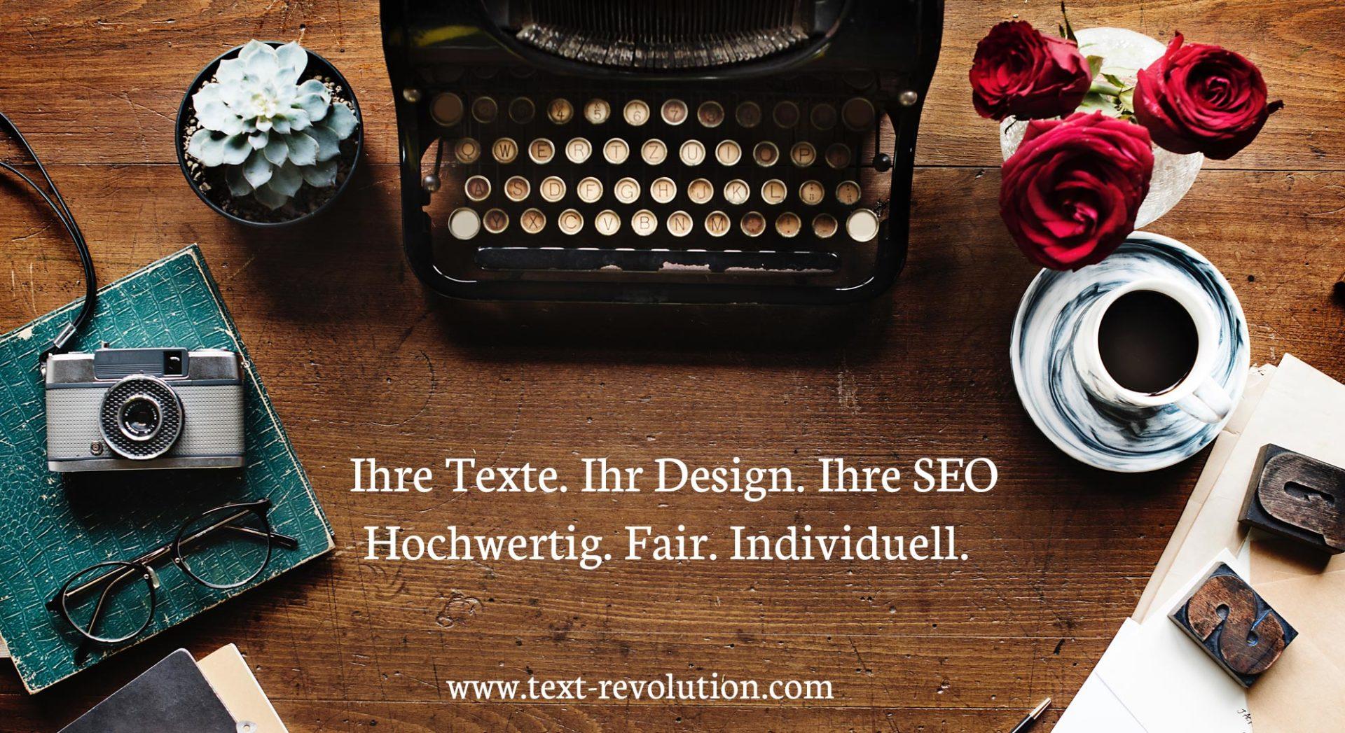 Texte, Seo, Webdesign aus einer Hand